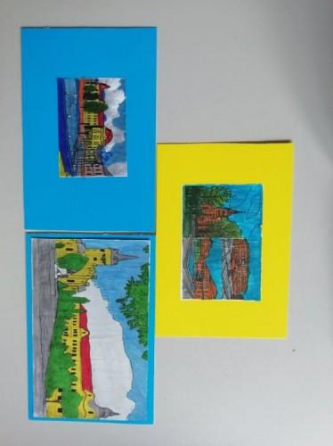 A kapott képeslapjaink