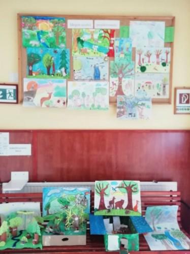 Projektkiállítás a falon