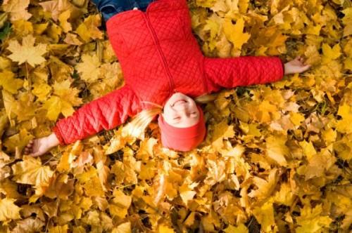 őszi gyerekkel