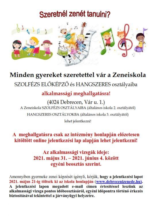 Felvételi plakát 2021-2022 a Zeneiskolában_001
